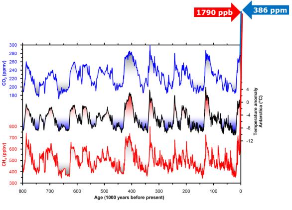 antarctic ice core data