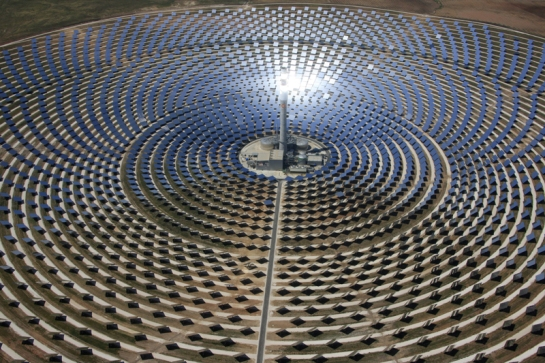 Spanish concentrated solar power plant near Seville Gemasolar