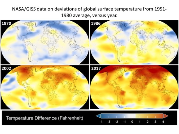 NASA global warming visualization