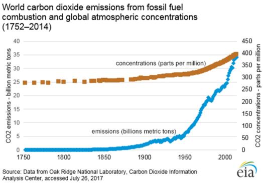 carbon dioxide buildup