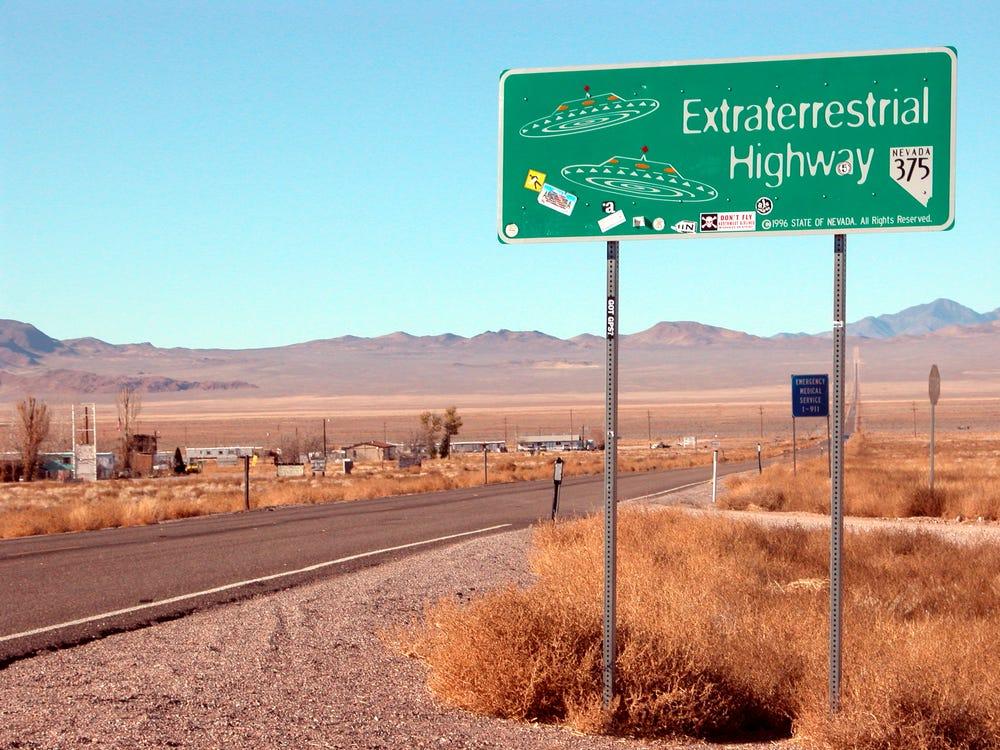 Extraterrestrial highway to Area 51